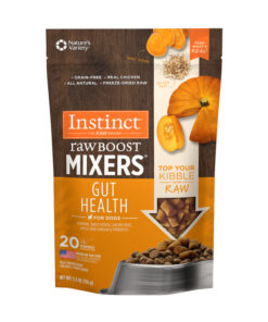 Nature's Variety Instinct Freeze Dried Raw Boost Mixers Grain-Free Gut Health Recipe Dog Food Topper