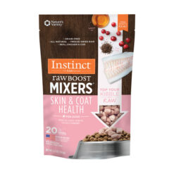 Nature's Variety Instinct reeze-Dried Raw Boost Mixers Grain-Free Skin & Coat Health Recipe Dog Food Topper