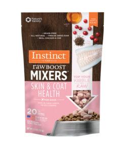 Nature's Variety Instinct reeze-Dried Raw Boost Mixers Grain-Free Skin & Coat Health Recipe Dog Food Topper