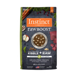 Nature's Variety Instinct Raw Boost Grain-Free Recipe with Real Venison Dry Dog Food