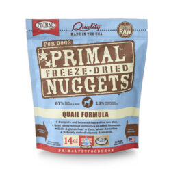 Primal Quail Formula Nuggets Grain-Free Raw Freeze-Dried Dog Food