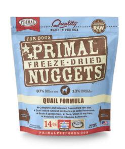 Primal Quail Formula Nuggets Grain-Free Raw Freeze-Dried Dog Food