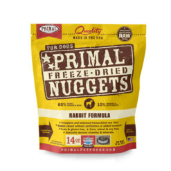 Primal Rabbit Formula Nuggets Grain-Free Raw Freeze-Dried Dog Food