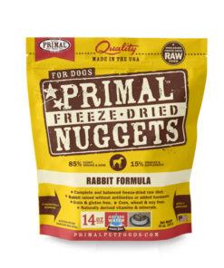 Primal Rabbit Formula Nuggets Grain-Free Raw Freeze-Dried Dog Food