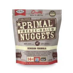 Primal Venison Nuggets Grain-Free Raw Freeze-Dried Dog Food
