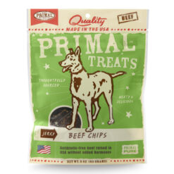 Primal Beef Chips Jerky Dog Treats
