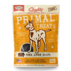 Primal Pork Liver Snaps Dry Roasted Dog Treats
