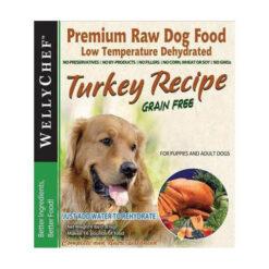 WellyTails WellyChef Turkey Recipe Grain Free Dehydrated Raw Dog Food