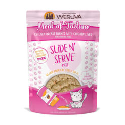 Weruva Slide N' Serve Meal of Fortune Chicken Breast Dinner With Chicken Liver Pate Grain-Free Cat Food Pouches