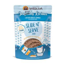 Weruva Slide N' Serve Jeopurrdy Licious Chicken Dinner Pate Grain-Free Cat Food Pouches