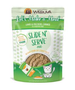 Weruva Slide N' Serve Let's Make a Meal Lamb & Mackerel Dinner Pate Grain-Free Cat Food Pouches