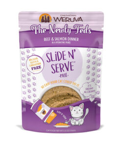 Weruva Slide N' Serve The Newly Feds Beef & Salmon Dinner Pate Grain-Free Cat Food Pouches