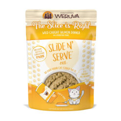 Weruva Slide N' Serve The Slice is Right Wild Caught Salmon Dinner Pate Grain-Free Cat Food Pouches