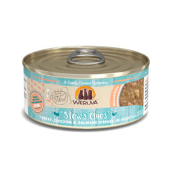 Weruva Stew Stew's Clues Turkey, Chicken & Salmon Dinner in Gravy Canned Cat Food