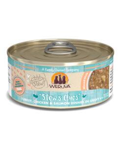 Weruva Stew Stew's Clues Turkey, Chicken & Salmon Dinner in Gravy Canned Cat Food