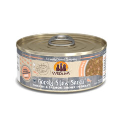 Weruva Stew Goody Stew Shoes Chicken & Salmon Dinner in Gravy Canned Cat Food