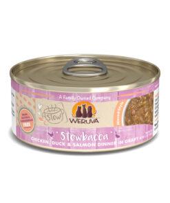 Weruva Stew Stewbacca Chicken, Duck & Salmon Dinner in Gravy Canned Cat Food