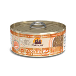 Weruva Stew Taco Stewsday Beef, Chicken & Salmon Dinner in Gravy Canned Cat Food