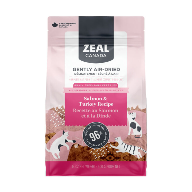 Zeal Canada Gently Air-Dried Salmon and Turkey Recipe Dry Cat Food