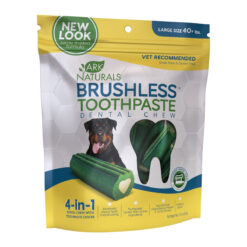 Ark Naturals Brushless Toothpaste Large Dental Dog Chews
