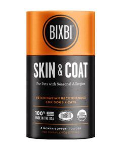 BIXBI Skin & Coat Seasonal Allergy Supplement for Dogs & Cats