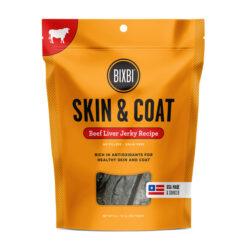 BIXBI Skin & Coat Beef Liver Jerky Dog Treats