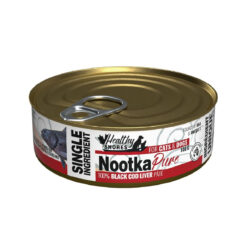 Healthy Shores Nootka Pure 100% Black Cod Liver Canned Food for Cats & Dogs