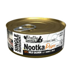 Healthy Shores Nootka Pure 100% Wild Salmon Canned Food for Cats & Dogs