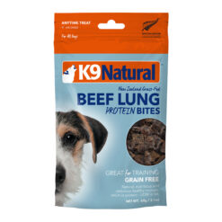 K9 Natural Beef Lung Protein Bites Dog Treats