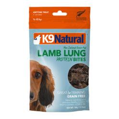 K9 Natural Lamb Lung Protein Bites Dog Treats