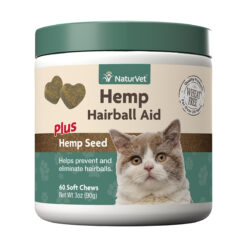 NaturVet Hemp Hairball Aid Plus Hemp Seed Cat Soft Chews