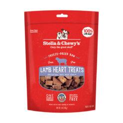 Stella & Chewy's Lamb Heart Freeze-Dried Raw Dog Treats