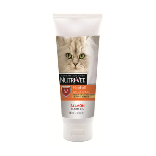 Nutri-Vet Hairball Paw Gel For Cats Salmon