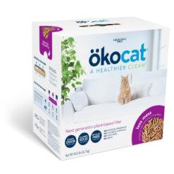 Okocat Less Mess Clumping Low-Tracking, Mini-Pellets Wood Cat Litter
