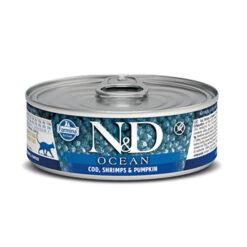 Farmina N&D Ocean Cod, Shrimps & Pumpkin Adult Canned Cat Food