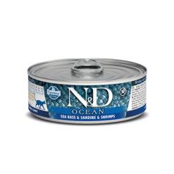 Farmina N&D Ocean Sea Bass, Sardne & Shrimps Adult Canned Cat Food