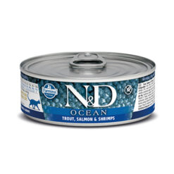 Farmina N&D Ocean Trout, Salmon & Shrimps Adult Canned Cat Food