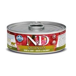 Farmina N&D Quinoa Skin & Coat Duck & Coconut Canned Cat Food