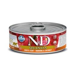 Farmina N&D Quinoa Skin & Coat Herring & Coconut Canned Cat Food