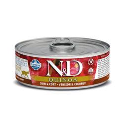 Farmina N&D Quinoa Skin & Coat Venison & Coconut Canned Cat Food