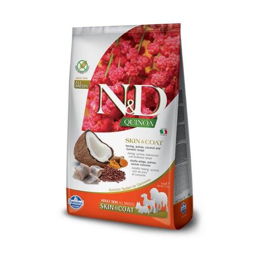 Farmina N&D Quinoa Skin & Coat Herring Adult Dry Dog Food
