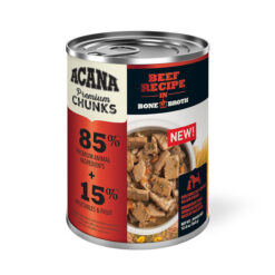 Acana Premium Chunks Beef Recipe in Bone Broth Canned Dog Food