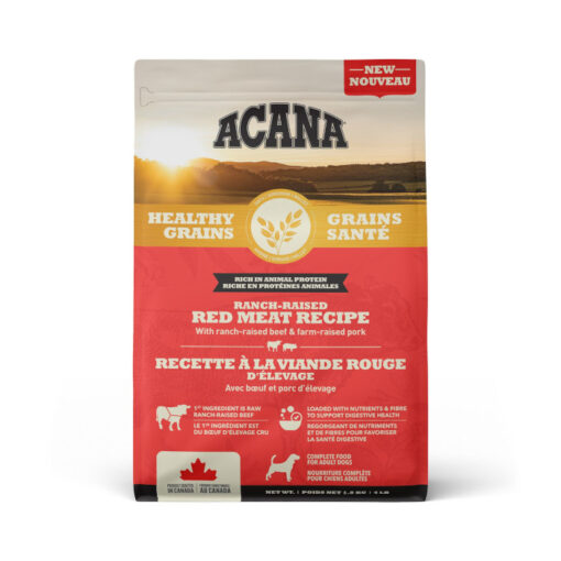 Acana Healthy Grains Ranch-Raised Red Meat Recipe Dry Dog Food